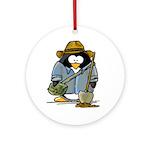 Treasure Hunter Penguin Ornament (Round)