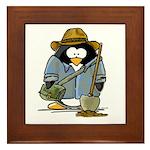 Treasure Hunter Penguin Framed Tile