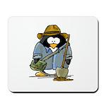 Treasure Hunter Penguin Mousepad