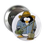 Treasure Hunter Penguin Button