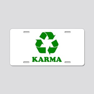 Karma Recycle Aluminum License Plate