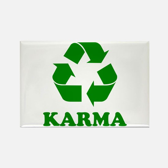 Karma Recycle Rectangle Magnet (10 pack)