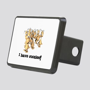 i have cooties Rectangular Hitch Cover