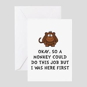Monkey Job Greeting Card