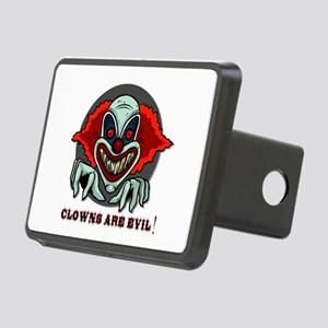 scary clown Rectangular Hitch Cover