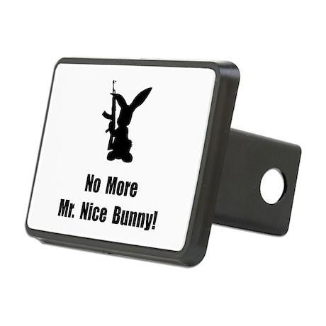 No More Nice Bunny Rectangular Hitch Cover