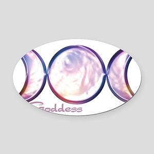 triple moon copy Oval Car Magnet