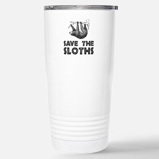 Save The Sloths Stainless Steel Travel Mug