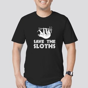 Save The Sloths Men's Fitted T-Shirt (dark)