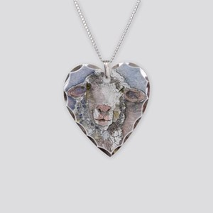 Shorn This Way, Sheep Necklace Heart Charm