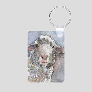 Shorn This Way, Sheep Aluminum Photo Keychain
