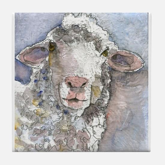 Shorn This Way, Sheep Tile Coaster