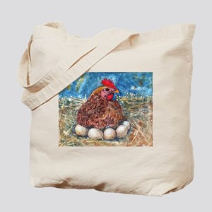 Family Nest, Chicken with eggs Tote Bag