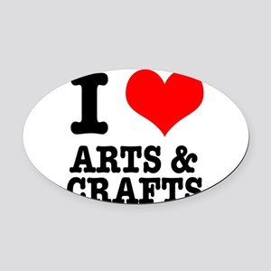 ARTS CRAFTS Oval Car Magnet