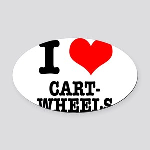 CARTWHEELS Oval Car Magnet