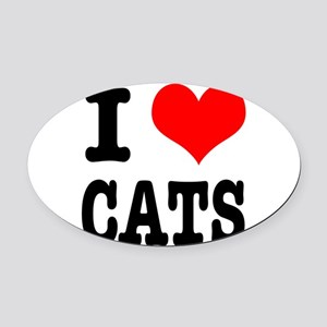 CATS Oval Car Magnet