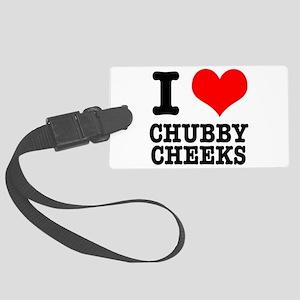 CHUBBY CHEEKS Large Luggage Tag