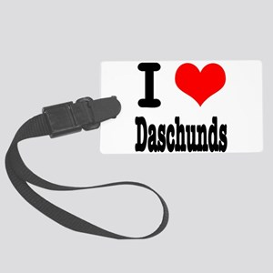 daschunds Large Luggage Tag