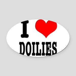 DOILIES Oval Car Magnet