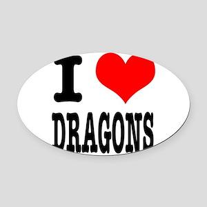DRAGONS Oval Car Magnet