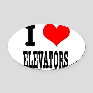 ELEVATORS Oval Car Magnet