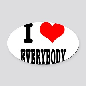 EVERYBODY Oval Car Magnet