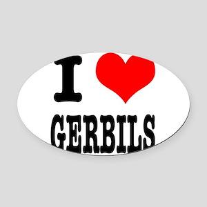 GERBILS Oval Car Magnet