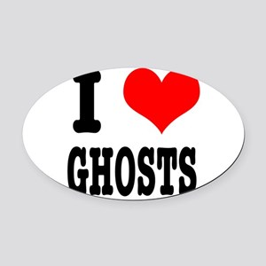 GHOSTS Oval Car Magnet