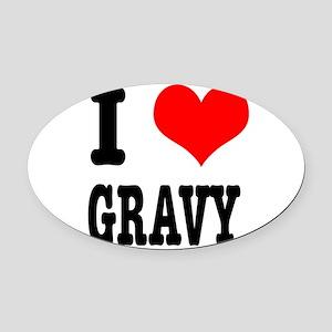 GRAVY Oval Car Magnet