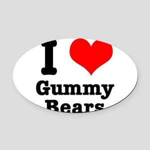 gummy bears Oval Car Magnet