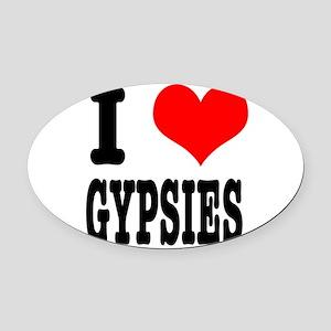 GYPSIES Oval Car Magnet