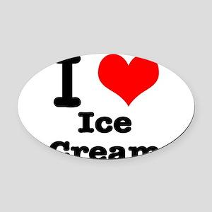 ice cream Oval Car Magnet