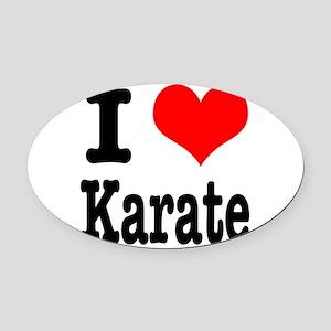 karate Oval Car Magnet