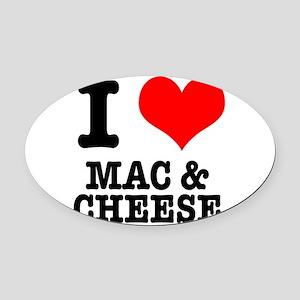 MAC CHEESE Oval Car Magnet