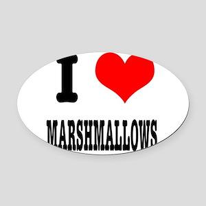 marshmallows Oval Car Magnet