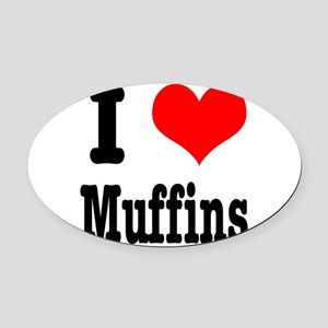 muffins Oval Car Magnet