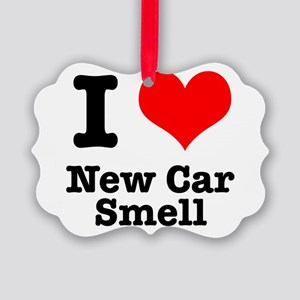 new car smell Picture Ornament