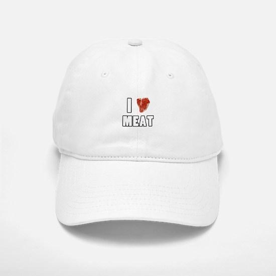 I Heart Meat Baseball Baseball Cap