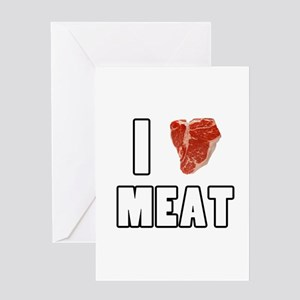I Heart Meat Greeting Card