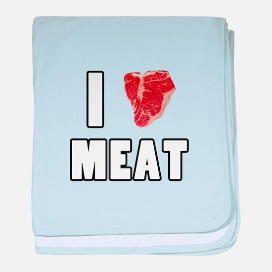 I Heart Meat baby blanket