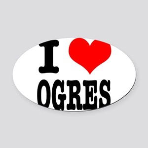 OGRES Oval Car Magnet