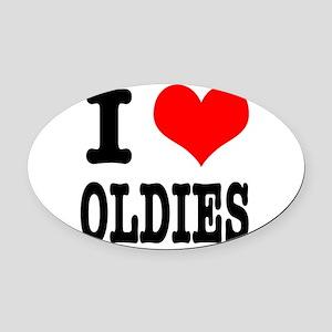 OLDIES Oval Car Magnet