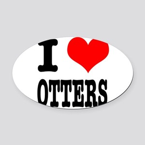 OTTERS Oval Car Magnet