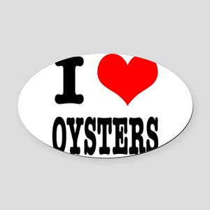 OYSTERS Oval Car Magnet