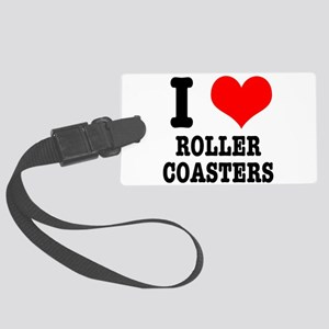 roller coasters Large Luggage Tag