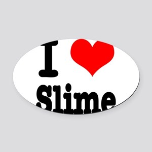 slime Oval Car Magnet