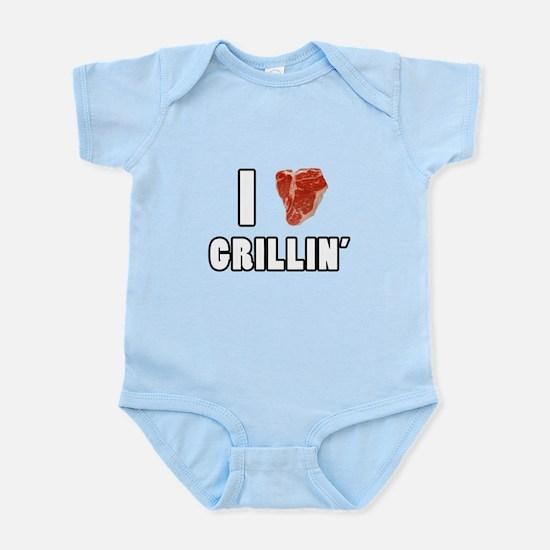 I Heart Grillin Infant Bodysuit