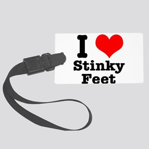 stinky feet Large Luggage Tag