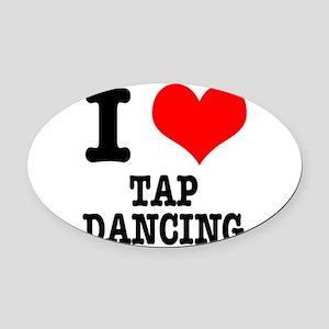 TAP DANCING Oval Car Magnet