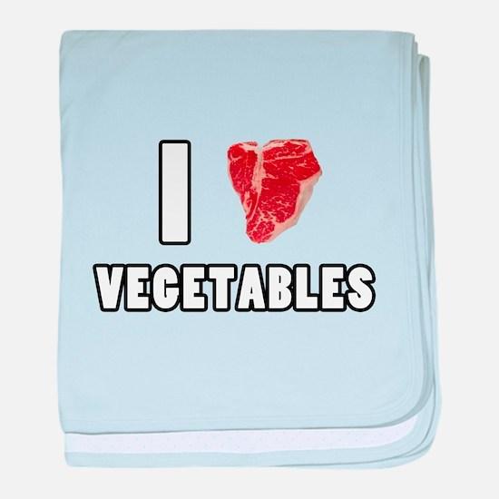 I Heart Vegetables baby blanket